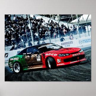 Silvia S15 drift JDM poster