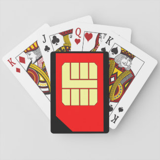 Sim Card playing cards