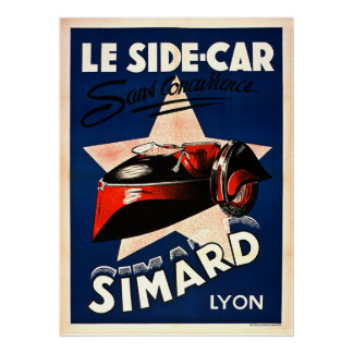 vintage car posters zazzle canada. Black Bedroom Furniture Sets. Home Design Ideas