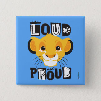 Simba | Loud And Proud 2 Inch Square Button