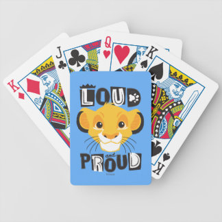 Simba | Loud And Proud Bicycle Playing Cards