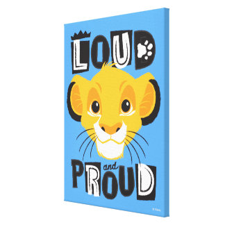 Simba | Loud And Proud Canvas Print