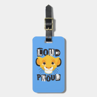 Simba | Loud And Proud Luggage Tag