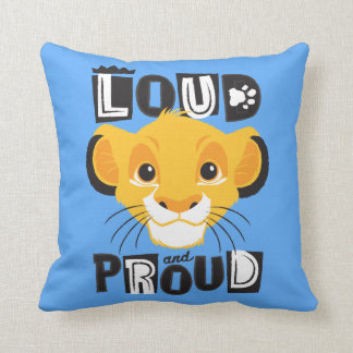 Simba | Loud And Proud Throw Pillow