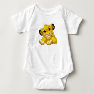 Simba The Lion King Raised Eyebrow Disney Baby Bodysuit