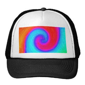 Simbol coloré de l'équilibre, du rouge et du bleu casquette de camionneur