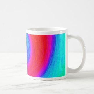 Simbol coloré de l'équilibre, du rouge et du bleu tasse à café