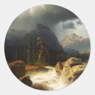 Simeon Marcus Larson, ( 1825 –  1864), Seascape 10 Classic Round Sticker