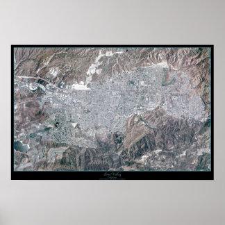 Simi Valley, California satellite poster print map