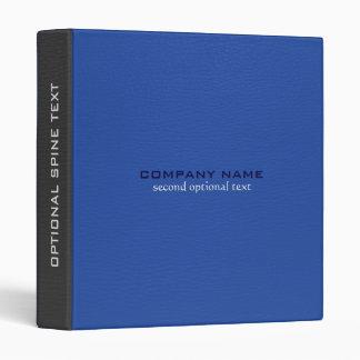 Simili cuir bleu et gris de Faux customisé Classeur 3 Anneaux