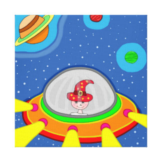 Simon and his Spaceship Canvas Print