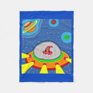 Simon and his Spaceship Fleece Blanket