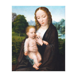 Simon Bening Virgin and Child Canvas Print