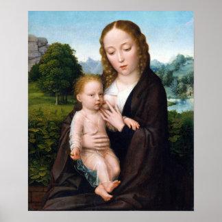 Simon Bening Virgin and Child Poster