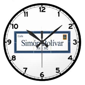Simon Bolivar, Street Sign, Sucre, Bolivia Wallclocks