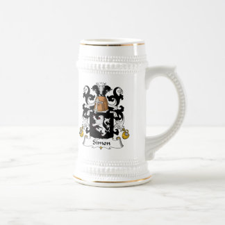 Simon Family Crest Beer Stein