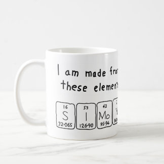 Simon periodic table name mug