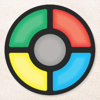 Simon says… round paper coaster