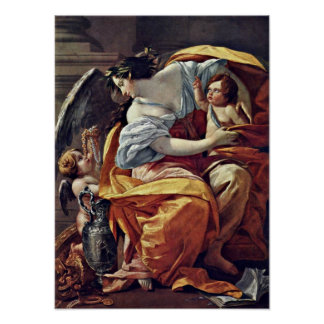 Simon Vouet - Allegory of Wealth Poster