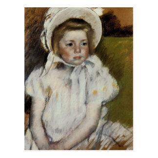 Simone in a White Bonnet Postcard
