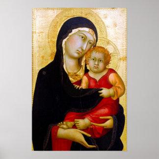 Simone Martini Madonna and Child Poster
