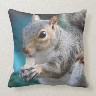 Simone Squirrel Eats a Peanut Throw Pillow