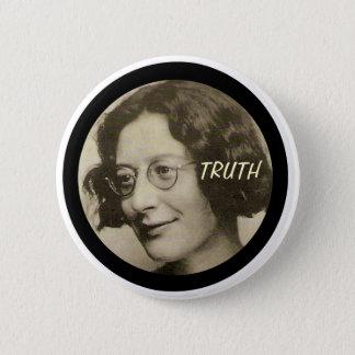 Simone Weil 2 Inch Round Button