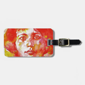 simone weil - watercolor portrait.1 luggage tag
