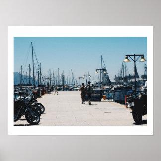 Simon's Town Harbor Pier Yachts Poster