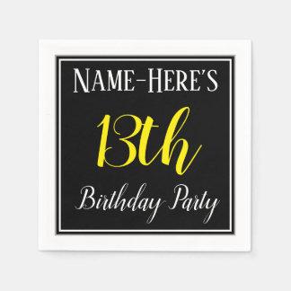 Simple, 13th Birthday Party w/ Custom Name Paper Napkin