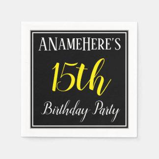 Simple, 15th Birthday Party w/ Custom Name Napkin