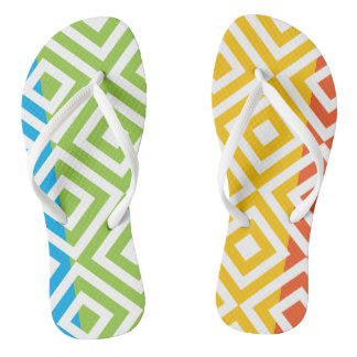 Simple abstract flip flops for everyday wear
