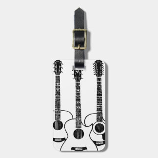 simple acoustic guitars luggage tag