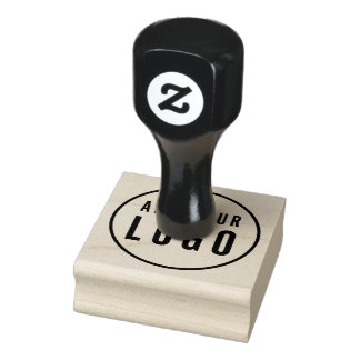 Simple Add Your Logo Rubber Stamp