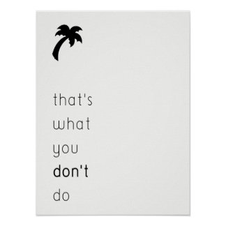 simple advice poster