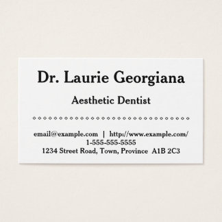 Simple Aesthetic Dentist Business Card
