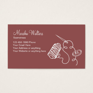 Simple Alterations Seamstress Business Card