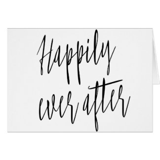 """Simple and beautiful """"Happily ever after"""" wedding Card"""