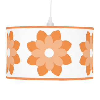 Simple And Bright Orange Flower Pendant Lamp