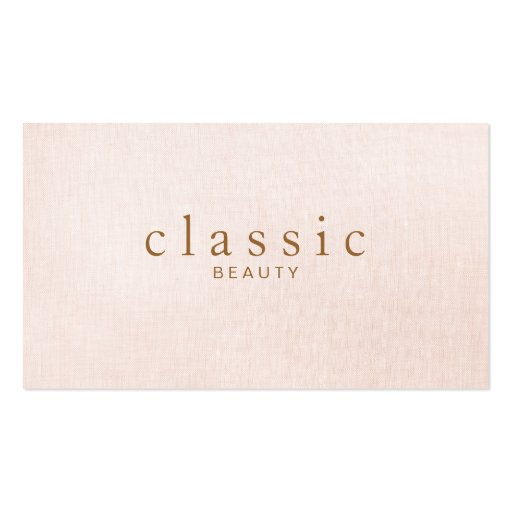 Simple and Classic Beauty Pink Linen Look Business Card Templates