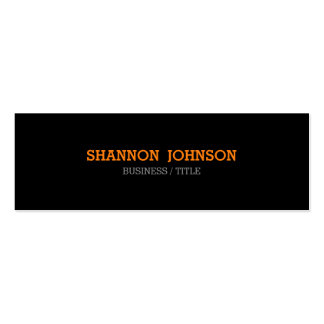 Simple and Clean Narrow business card - orange