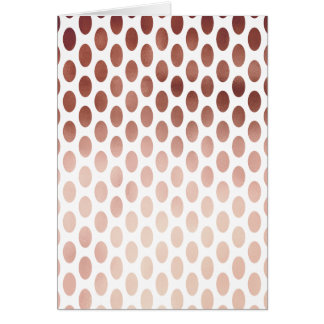 simple and clear rose gold foil polka dots pattern card
