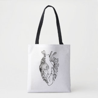 Simple and Cool Overlay Heart-Shaped Art Tote Bag
