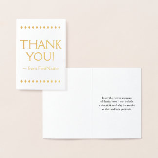 """Simple and Customized """"THANK YOU!"""" Card"""