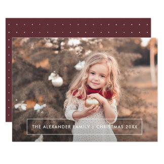 Simple and Elegant Dots Christmas Photo Card