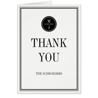 Simple and Elegant Wedding Thank You Card