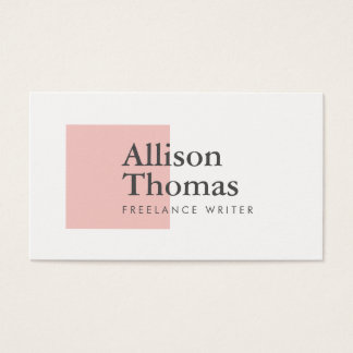 Simple and Minimal Pink Square Modern Business Card