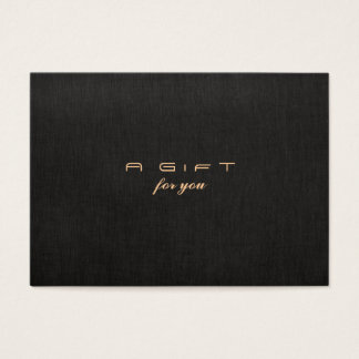 Simple and Modern Black Gift Certificate