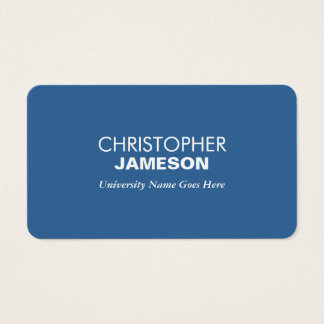 Simple and Modern Blue Graduate Student University Business Card