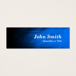 Simple and Modern Dark Blue Mini Business Card